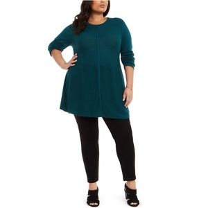 Style & Co Long Sleeve Seam-Front Tunic Sweater 1X